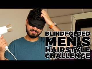 Blindfolded Men's Hairstyle Challenge | Men's Hair Tutorial