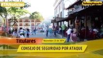 Titulares de Teleantioquia Noticias - martes 25 de noviembre de 2014