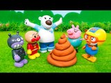 Pororo & PlayDoh Poop❤TOYFAMILY PLAY TOYS