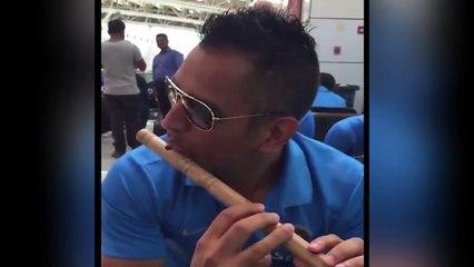 MS Dhoni Playing Flute, Suresh Raina Shared Video On Twitter    News    News Adda