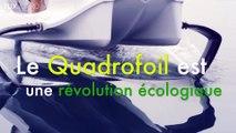 Voler au-dessus de l'eau avec le Quadrofoil !