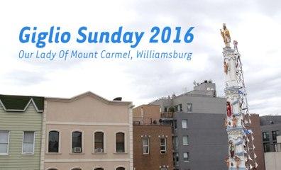 Watch Williamsburg's Wild Four Ton Giglio Tower Lift