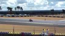 Chute moto et belle glissade  -24 heures moto 2009 au MANS
