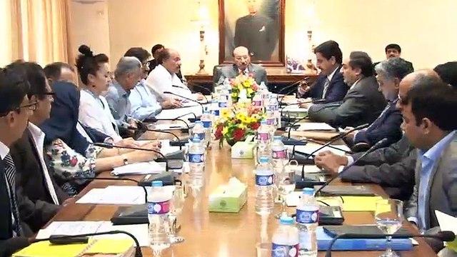 CM SINDH MEETING MICS SURVEY     KARIM WASSAN  MEDIA CELL CM HOUSE SINDH.