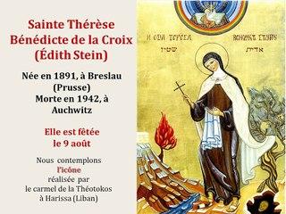 12. Prier avec l'icône de Sainte Thérèse Bénédicte de la Croix (Edith Stein)