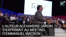 L'auteur Alexandre Jardin squatte le meeting de Macron