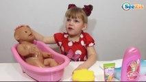 ✔ Кукла Беби Борн и Девочка Ника. Новая ванна для игрушки. Видео для детей. Baby Born Bath Time ✔