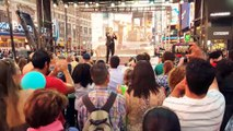 NEW YORK, NEW YORK by baritone DAVID SERERO on TIMES SQUARE for BEST OF FRANCE 2015