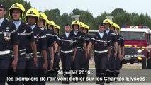 Pour leurs 70 ans, les pompiers de l'air défileront le 14/07