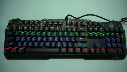 Neolution eSport ELEMENT Mechanical Keyboard Lighting Effect Demo Video