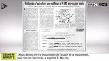 Le salaire très élevé du coiffeur d'Hollande. Zap actu du 13/07/2016 par lezapping