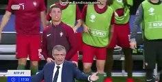 Os minutos finais da Final do Europeu 2016, vividos por Fernando Santos, Cristiano Ronaldo e pela restante equipa. LINDO!!!!
