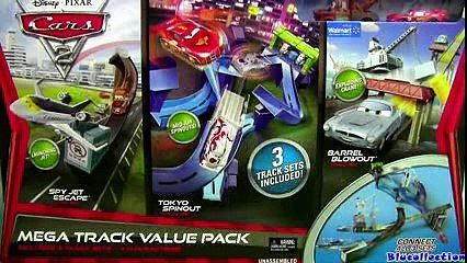 CARS 2 Mega Track Value Pack Playset Tokyo Spinout, Spy Jet Escape, Barrel Blowout Speedway