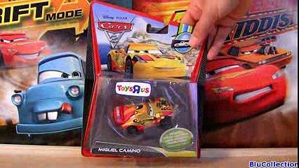 CARS 2 Metallic Miguel Camino ToysRUs TRU Diecast toy Mattel Disney Pixar review by Blucollection
