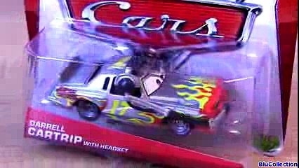 Cars 2 Miles Axlerod with Open Hood CHASE Darrell Cartrip Headset Disney Pixar 2013 toys collection