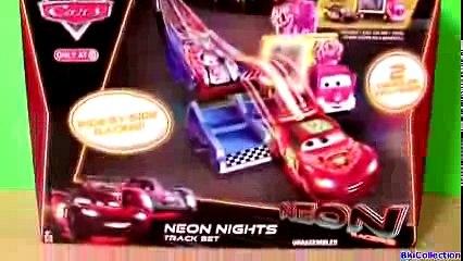 Cars 2 Neon Racers Track Set 2014 Neon Nights Taia Decotura Metallic Lightning McQueen Disney Pixar