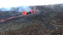 Eruption du 26 mai 2016 au Piton de La Fournaise, Ile de La Réunion