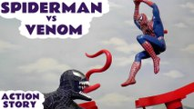 SPIDER-MAN VS VENOM --- Join Spider-man as he looks for help against the evil Venom, Featuring TMNT, Disney Cars Toys Mater, Iron Man,Captain America, Thor, and Ultron from the Avengers, Wolverine and many more family fun toys