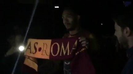 Roma, l'arrivo di Juan Jesus a Pinzolo