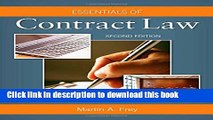 Read Essentials of Contract Law  PDF Free