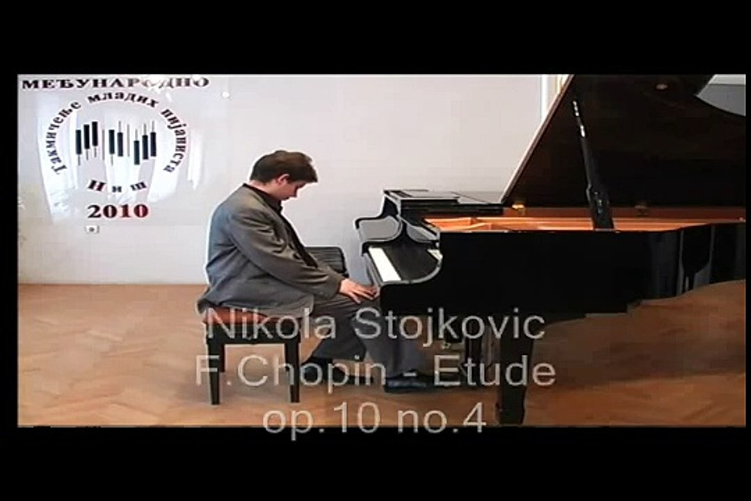 Nikola Stojkovic plays F Chopin - Etude op 10 no 4