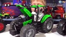 Bruder. Видео обзор и Тест Драйв Тракторов (Fendt , Agrotron, Steyr) от Игорька. Видео для мальчико
