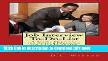 Read Job Interview To-Do-List: A Simple Makeover for Anyone Preparing for a Job Interview E-Book
