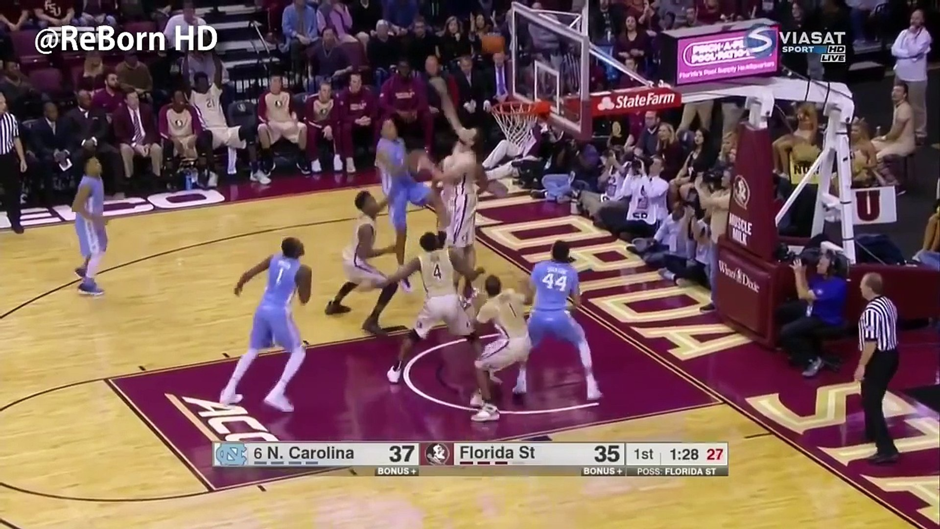 Brice Johnson UNC Highlights 1.4.16 At. Florida State - UNREAL 39 Pts, 23 Rebs, 3 Blks, Tenacious!