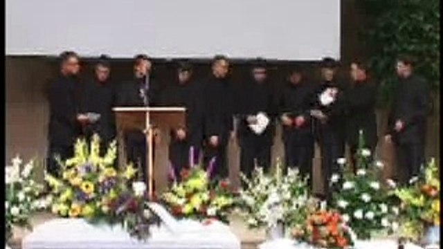 10 brothers sing at sisters funeral