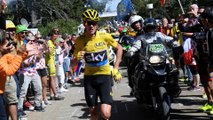 Froome running in the Ventoux - Étape 12 / Stage 12 (Montpellier / Mont Ventoux) - Tour de France 2016
