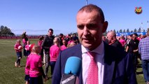 Interview with Iceland's elected president Guðni Th. Jóhannesson about the first FCBEscola football campus for girls