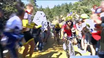 Tour de France : Chris Froome chute en pleine course et termine sa course à pieds