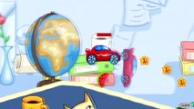 Videos & Cartoons for kids - Little red Car Racing & Stationery Obstacles - Gameplay for Children