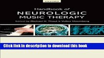 Read Book Handbook of Neurologic Music Therapy E-Book Download