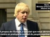 GB: Le ministre Boris Johnson veut quitter l'UE mais pas l'Europe
