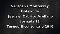 Gol Jesus Arellano, Jornada 15, Santos vs Monterrey