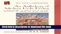 Download Anthology of Modern Urdu Poetry: in English Translation WithUrdu Text  EBook