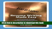 Download Resume Writing Made Easy: A Practical Guide to Resume Preparation and Job Search (8th