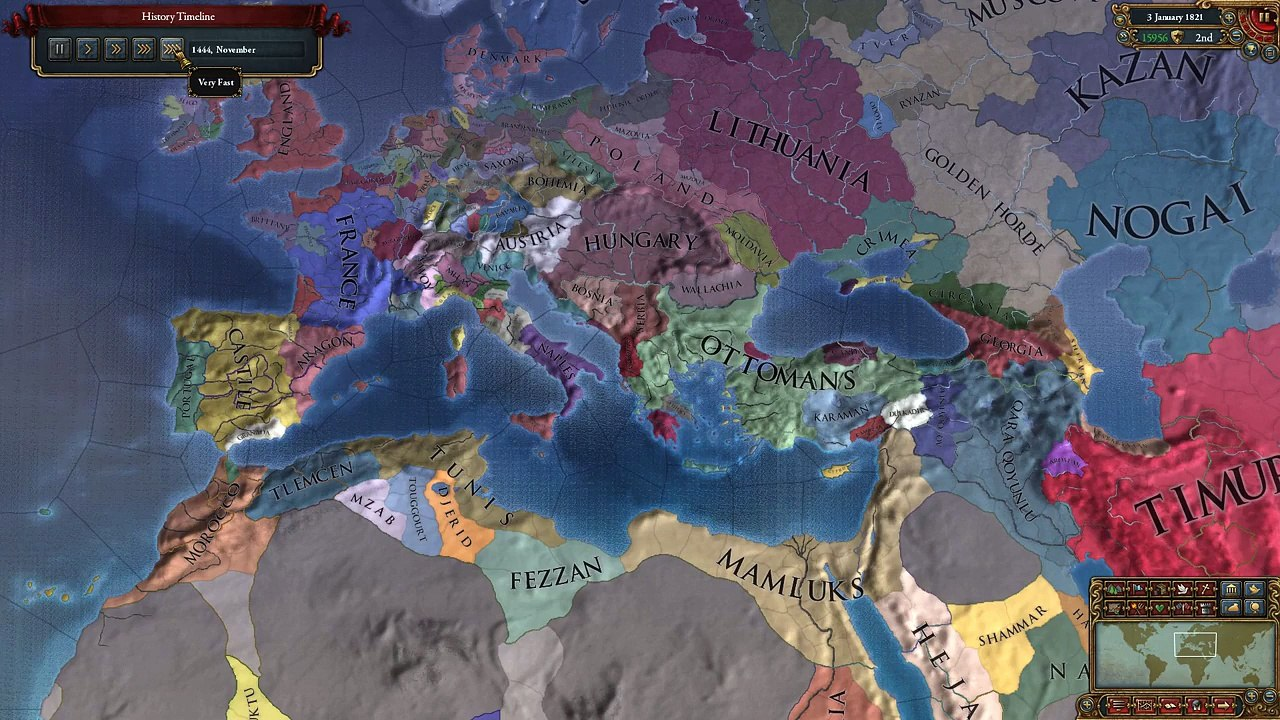 Europa Universalis IV Genoa Timelapse! 1444-1821