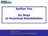 Section Two - Six Steps to Vocational Rehabilitation - Section 2 of 10