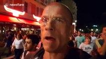 People flee terror attack scene in Nice