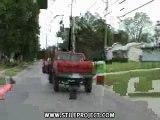 conducteur fou dans voiture