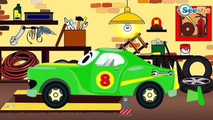 Caricaturas de carros infantiles - Carros de Carreras, Coche de Policía - Videos Para Niños