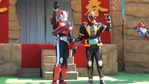 """""""Show last greeting"""" Kamen Rider ghost my soul and Kamen Rider drive appeared!"""
