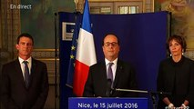 """François Hollande à Nice : """"Nous sommes devant un combat qui va être long"""""""