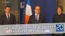 Attaque à Nice: «Une cinquantaine de personnes en urgence absolue» selon François Hollande
