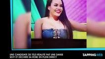 Une candidate de télé-réalité anglaise fait un twerk très sexy et déchire sa robe en plein direct (vidéo)