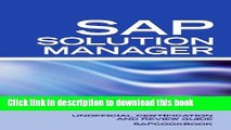 PDF Unofficial SAP Solution Manager Interview Questions: SAP Solution Manager Certification