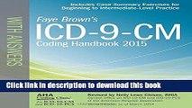Read ICD-9-CM Coding Handbook, with Answers, 2015 Rev. Ed. (ICD-9-CM Coding Handbook with Answers