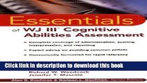 Read Book The Essentials of WJ III Cognitive Abilities Assessment ebook textbooks